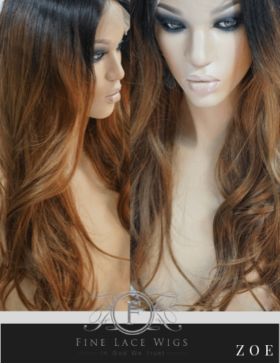 Ombre Human Hair WIgs for white woment
